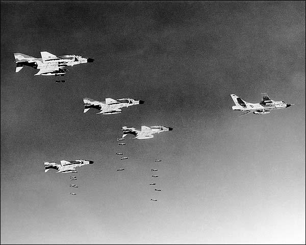 McDonnell F-4 Phantom Bombing Vietnam Photo Print for Sale