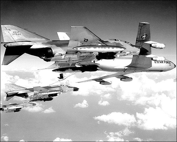 F-4C / F-4 Phantom Bomber & KC-135 Tanker Photo Print for Sale
