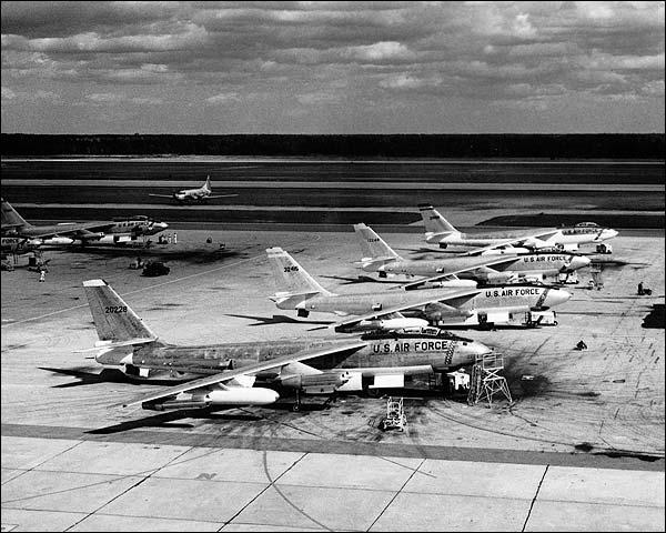 Boeing B-47E / B-47 Bomber Flight Line Photo Print for Sale