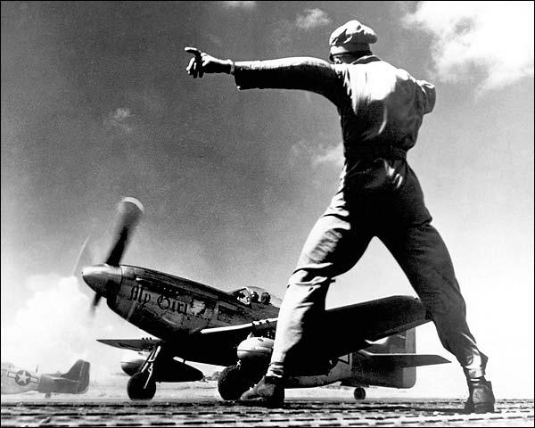 North American P-51 Take Off Iwo Jima Photo Print for Sale