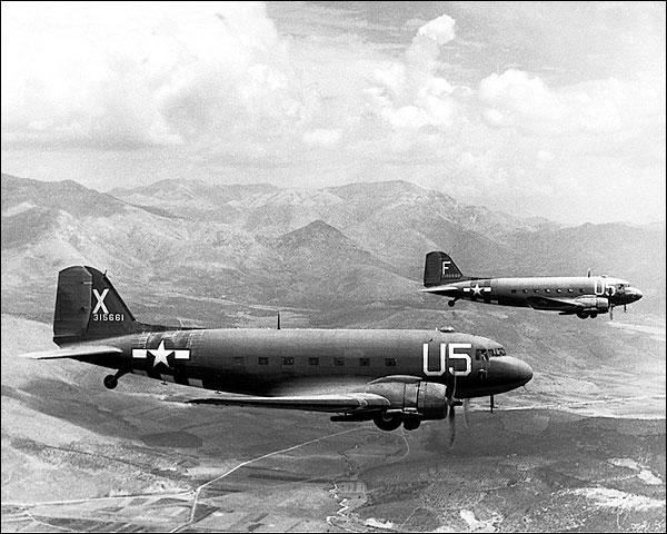 Douglas C-47 Skytrain Aircraft on D-Day Photo Print for Sale