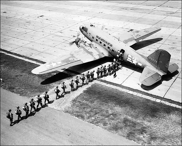 Douglas C-47 & 75th Troop Carrier Squadron Photo Print for Sale
