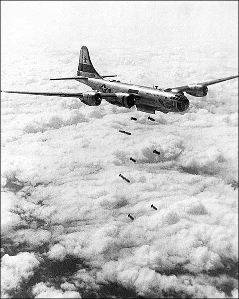 B-29 Superfortress Korean War Bombing Photo Print for Sale