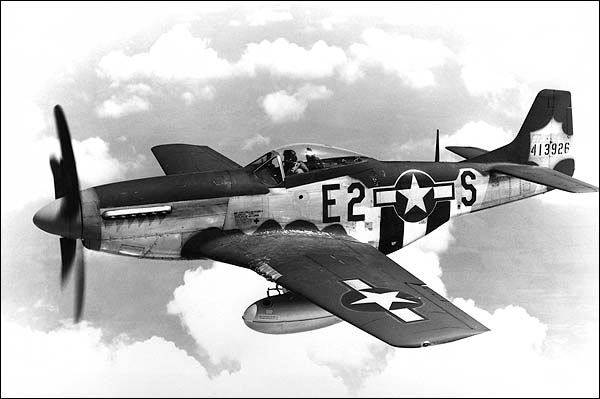 North American P-51 Mustang in Flight WWII Photo Print for Sale