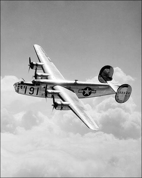 Consolidated B-24 Liberator Bomber Flight Photo Print for Sale