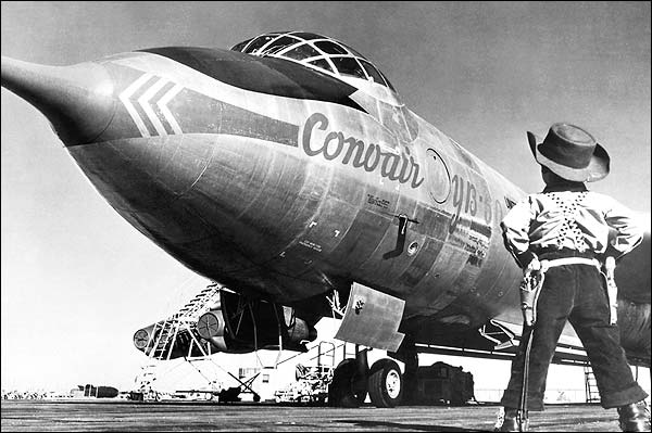 Convair YB-60 / B-60 Young Cowboy Admirer Photo Print for Sale
