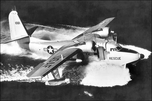SA-16 Albatross Rescue Seaplane Take Off Photo Print for Sale