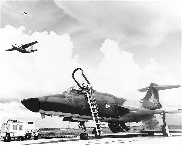 RF-101/F-101 Voodoo w/ C-123 & O-2 Photo Print for Sale