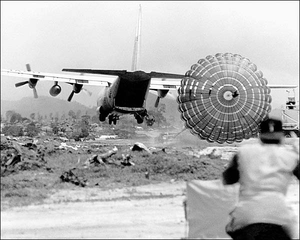 Vietnam War C-130 Parachute Extraction System Photo Print for Sale