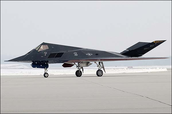Air Force F-117 Stealth Fighter on Ramp Photo Print for Sale
