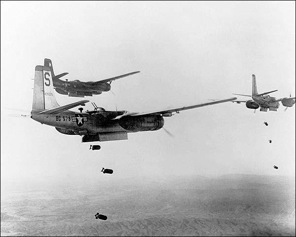 Korean War Douglas A-26 Invader Formation Bomb Mission Photo Print for Sale