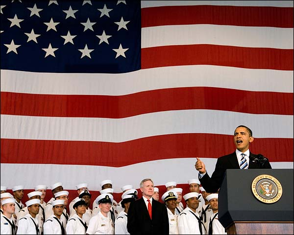 President Barack Obama Addresses U.S. Service Members  Photo Print for Sale