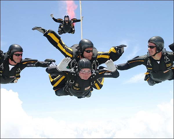 President George Bush 80th Birthday Skydive Photo Print for Sale