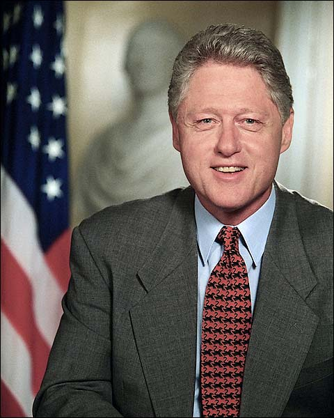 President Bill Clinton White House Portrait Photo Print for Sale