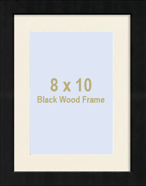 black portrait personalized matted 11x14 8x10 stepped frame by malden design