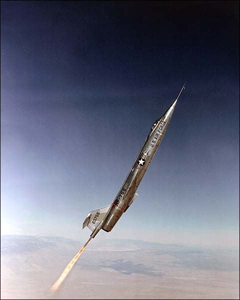 F-104 with Rocket Assist Flown  by Chuck Yeager Photo Print for Sale