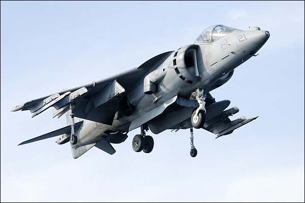 AV-8B / AV-8 Harrier Jump Jet Hovering Photo Print for Sale