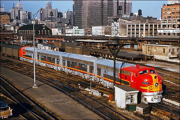 Santa Fe Streamliner F-3ABBA Railroad  Photo Print for Sale