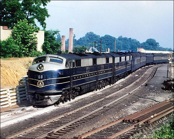 B&O Railroad E-7AB Train  Photo Print for Sale