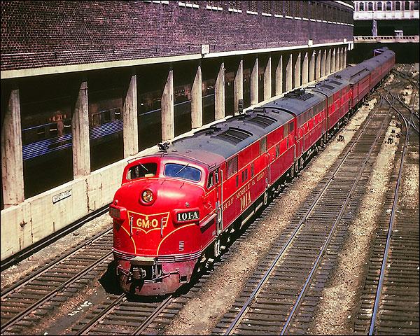 GM&O Railroad E-7A/F-7B/E-7A Train Photo Print for Sale