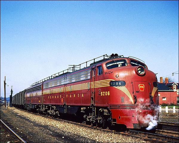 Pennsylvania Railroad E-8AA Pinstripe Train Photo Print for Sale