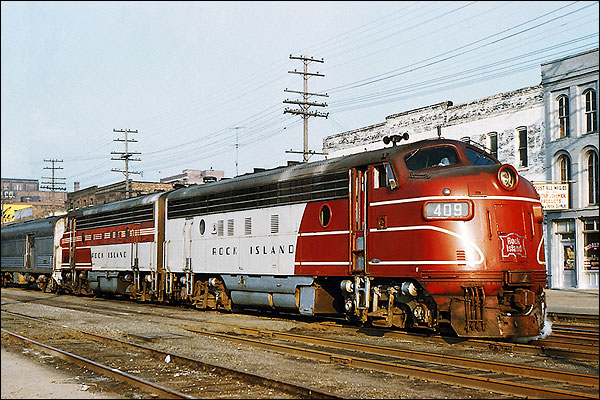 RI Railroad 'Peoria Rocket' FP-7A Train Photo Print for Sale