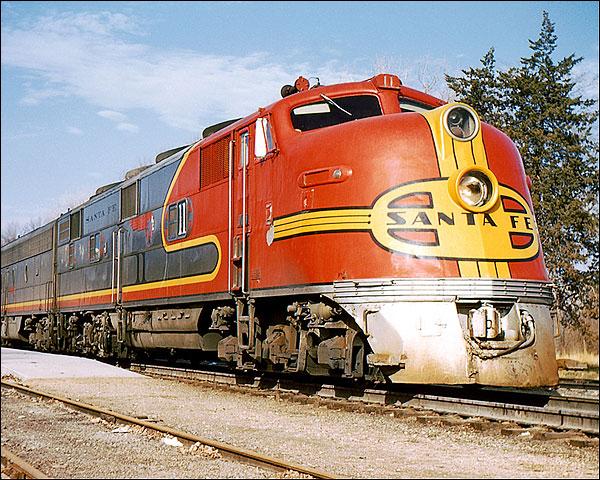 Atchison, Topeka and Santa Fe (ATSF) E-3A #11 Railroad Photo Print for Sale
