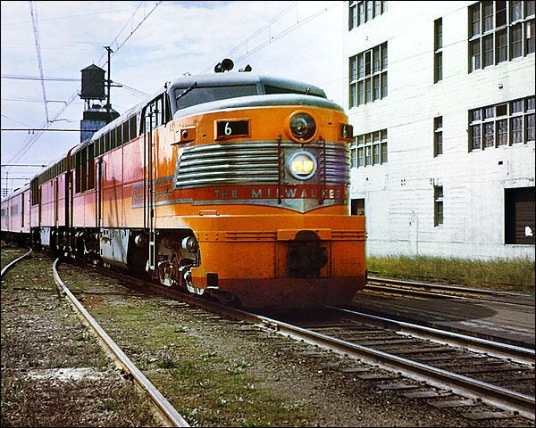 Milwaukee Road Erie-Built #6 Cab Train Photo Print for Sale