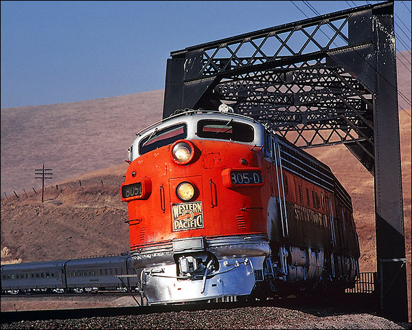 805-D 'California Zephyr' Western Pacific Railroad Photo Print for Sale