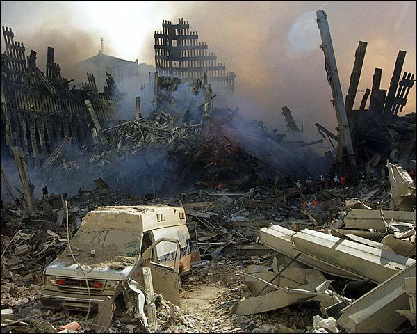 Smoke at Ground Zero 9/11 Photo Print for Sale