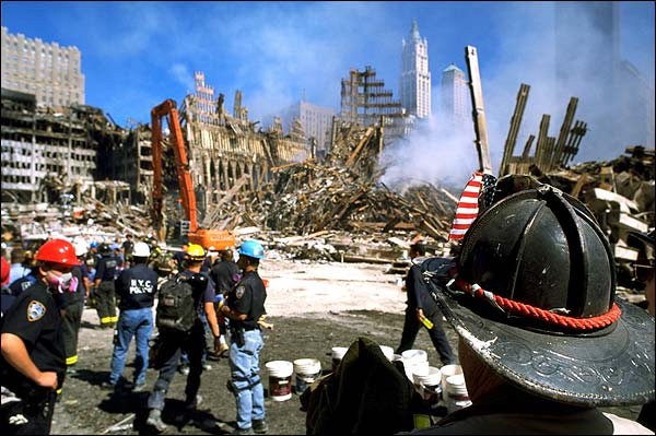 FDNY and NYPD at Ground Zero After 9/11 Photo Print for Sale