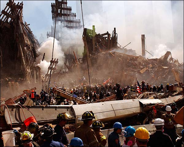 Ground Zero Rescuers Search for Survivors 9/11 Photo Print for Sale