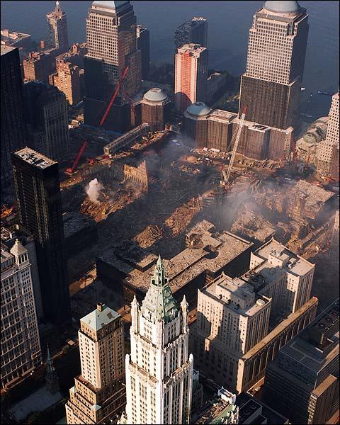 Ground Zero Aerial View 9/11 Photo Print for Sale