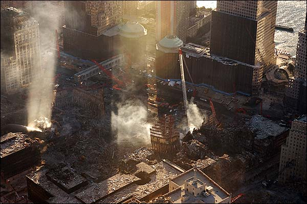 World Trade Center Aerial View 9/11 Photo Print for Sale