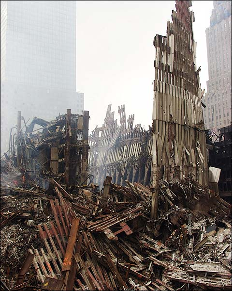 World Trade Center Steel Framework 9/11 Photo Print for Sale