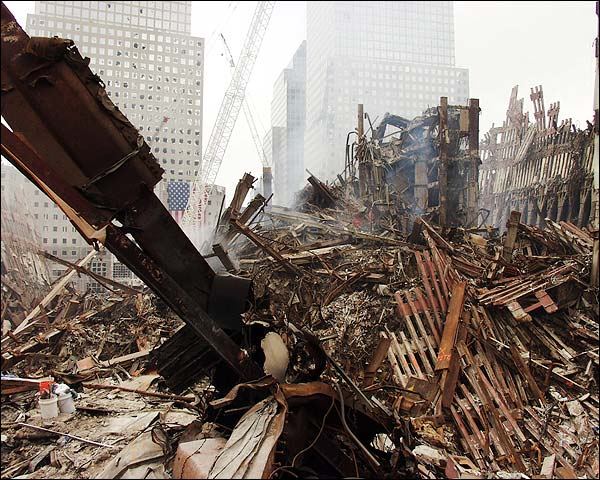 World Trade Center Rubble 9/11 Photo Print for Sale