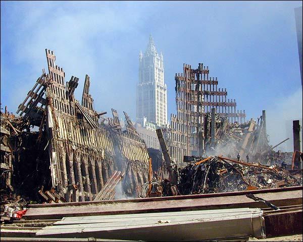 Steel Framework and Debris 9/11 Photo Print for Sale