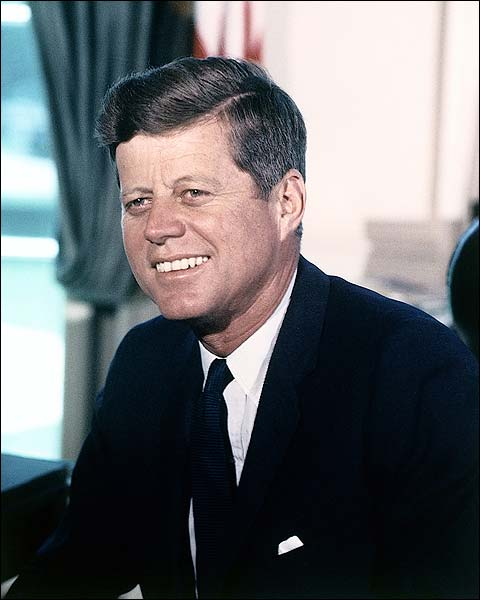 President John F. Kennedy Color Portrait Photo Print for Sale