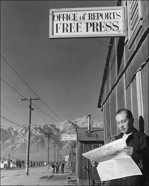 Roy Takeno WWII Manzanar Ansel Adams Photo Print for Sale