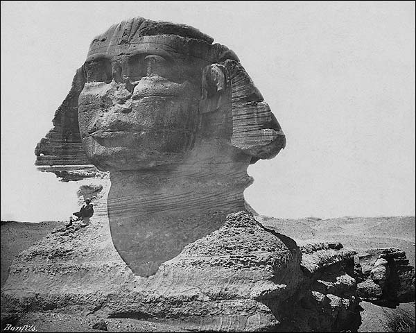 Explorer w/ The Sphinx of Giza, Egypt 1867 Photo Print for Sale