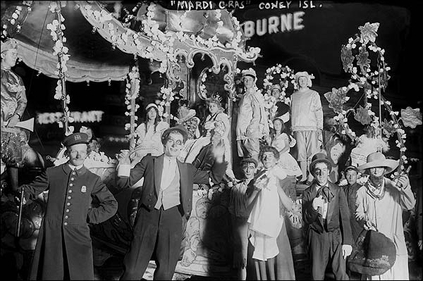 Early Mardi Gras on Coney Island, New York Photo Print for Sale