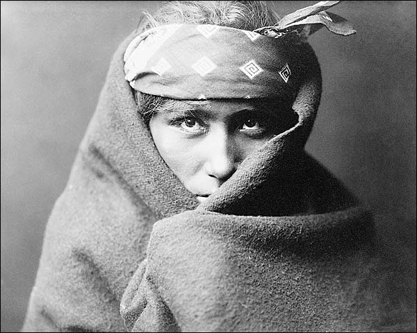 Navajo Indian Boy Edward S. Curtis Portrait Photo Print for Sale