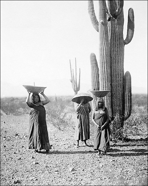 Maricopa Indian Women Edward S. Curtis 1907 Photo Print for Sale