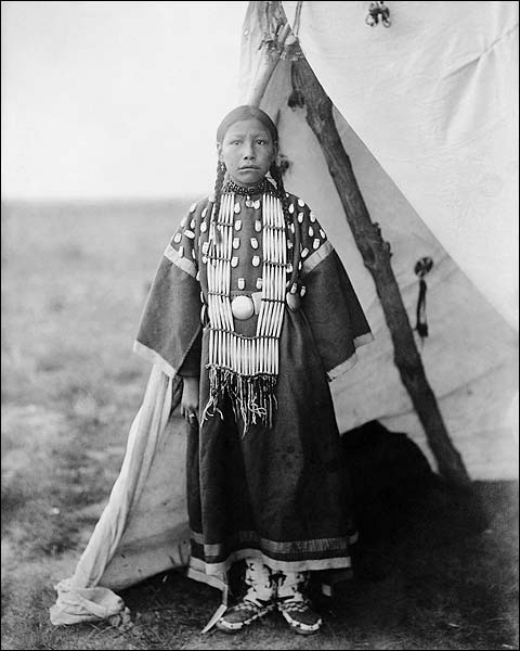 Dakota Indian and Tipi Edward S. Curtis Photo Print for Sale