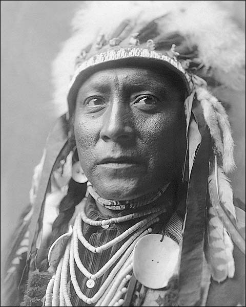Crow Indian Man Edward S. Curtis Portrait Photo Print for Sale
