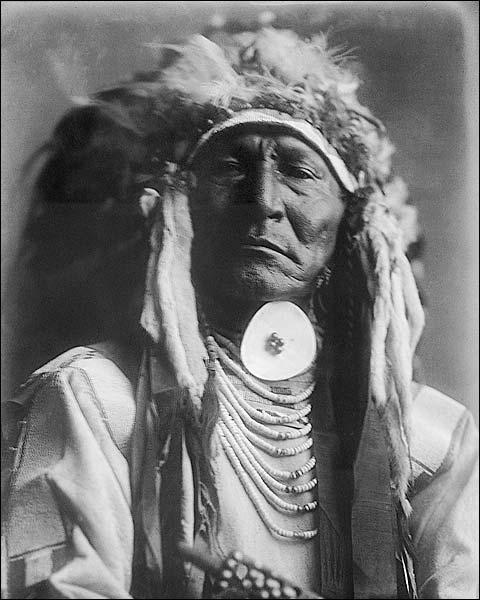 Crow Indian Bear Cut Ear Edward S. Curtis Photo Print for Sale