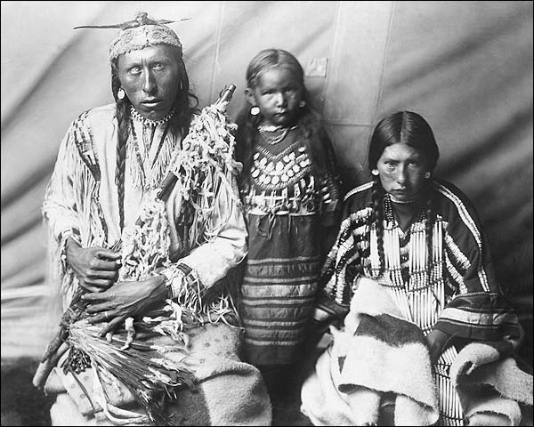 Piegan Indian Family Edward S. Curtis 1910 Photo Print for Sale
