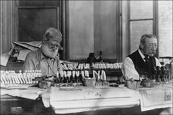 Old New York Toymakers Making Toys 1915 Photo Print for Sale