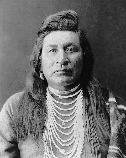 Nez Perce Indian Man Edward S. Curtis 1899 Photo Print for Sale