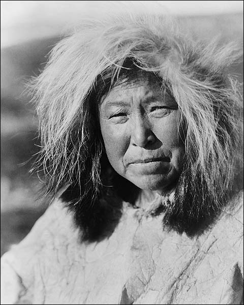 Selawik Indian Woman Edward S. Curtis Photo Print for Sale